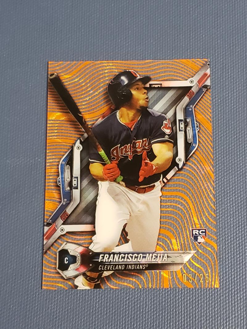 2018 Topps High Tek Pattern 5 Magma Diffractor Orange