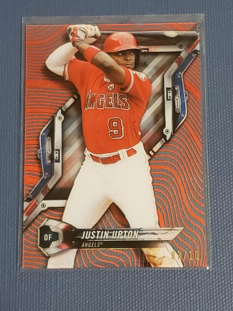 2018 Topps High Tek Pattern 5 Magma Diffractor Red