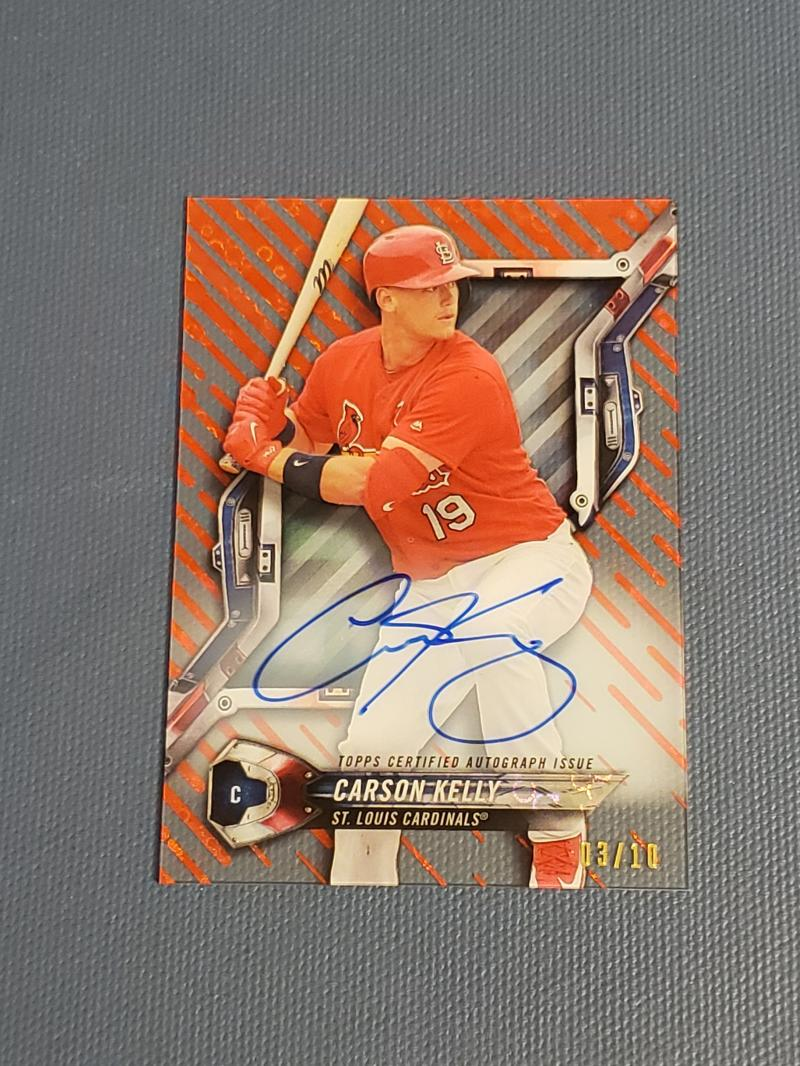 2018 Topps High Tek Autographs Red Orbit Diffractor