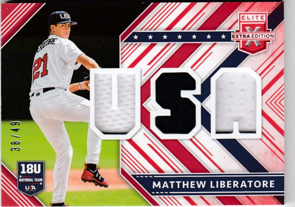 2018 Panini Elite Extra Edition USA Material Red