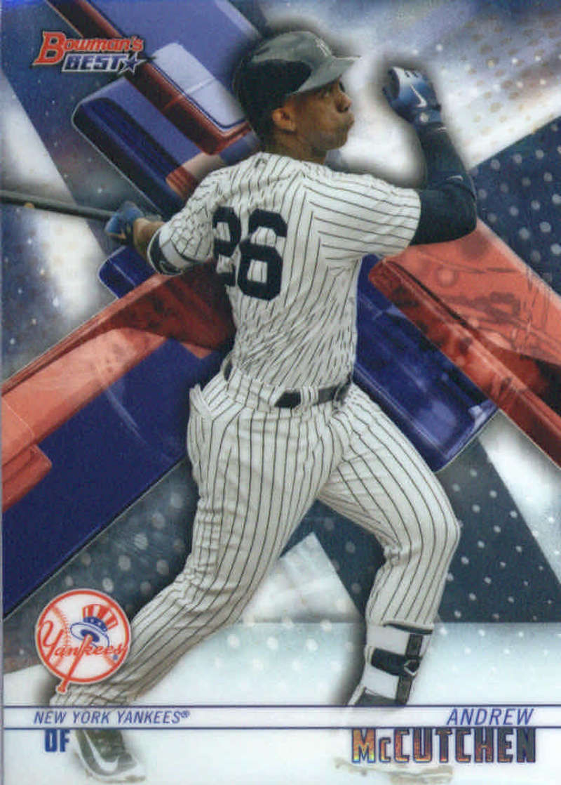 2018 Bowman's Best Baseball #6 Andrew McCutchen New York Yankees  MLB Trading Card made by Topps Company
