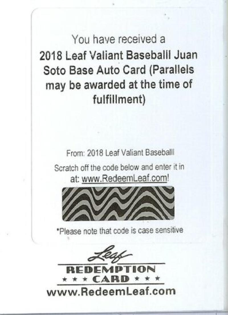2018 Leaf Valiant Autographs