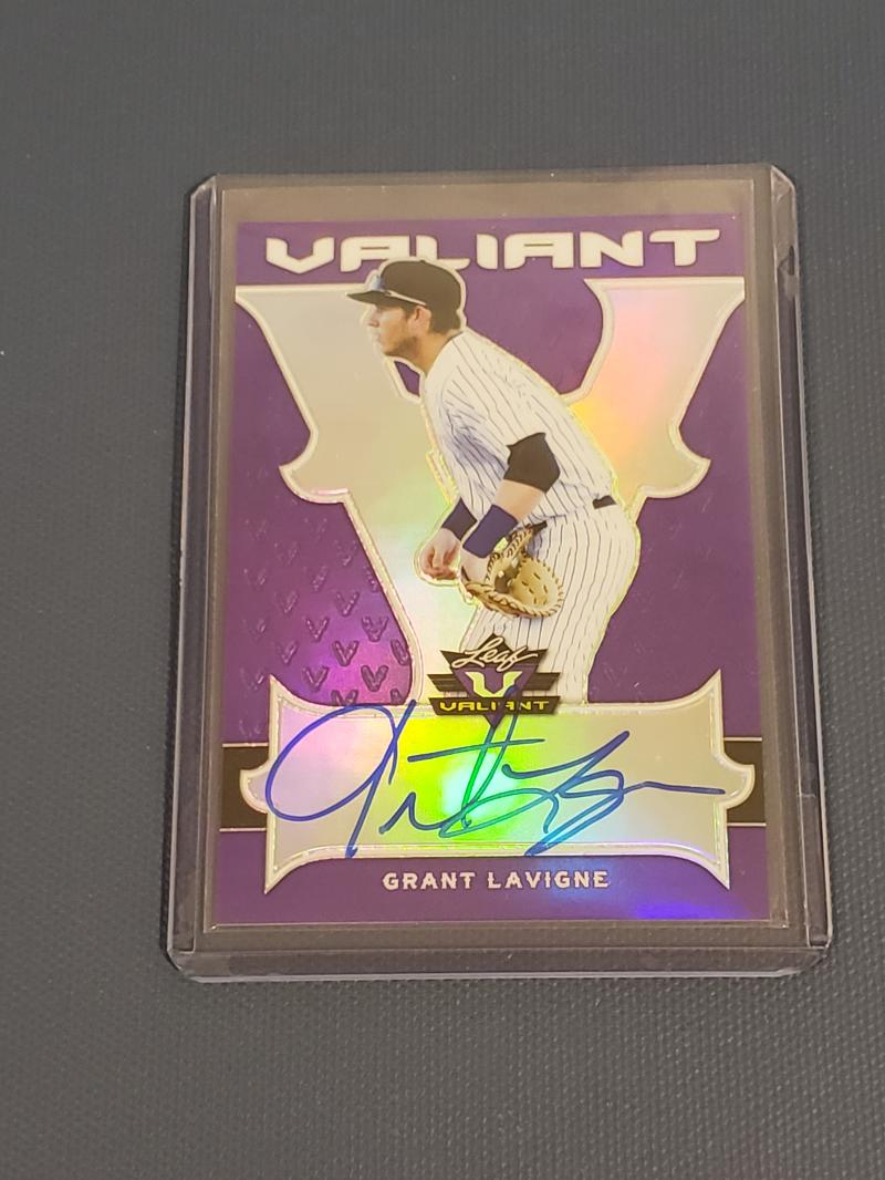 2018 Leaf Valiant Autographs Purple