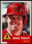 2019 Topps The MLB Living Set #200 Mike Trout Los Angeles Angels  Official Baseball Trading Card with Facsimile Red Autograph on Back Continuation of
