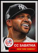 2019 Topps MLB The Living Set #241 CC Sabathia New York Yankees  Official Baseball Trading Card with Facsimile Red Autograph on Back Continuation of 2