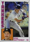 2019 Topps Series 1 Baseball Silver Wrapper Packs Chrome 1984 '84 Refractor #T84-1 Don Mattingly New York Yankees
