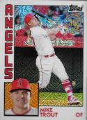 2019 Topps Series 1 Baseball Silver Wrapper Packs Chrome 1984 '84 Refractor #T84-2 Mike Trout Los Angeles Anges