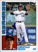 2019 Topps Series 1 Baseball Silver Wrapper Packs Chrome 1984 '84 Refractor #T84-16 Christian Yelich Milwaukee Brewers