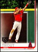 2019 Topps 150th Anniversary Baseball #100 Mike Trout Los Angeles Angels  Official MLB Trading Card By Topps