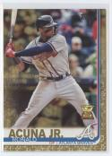 2019 Topps Gold Baseball #1 Ronald Acuna Jr. SER/2019 Atlanta Braves  Official MLB Trading Card By Topps