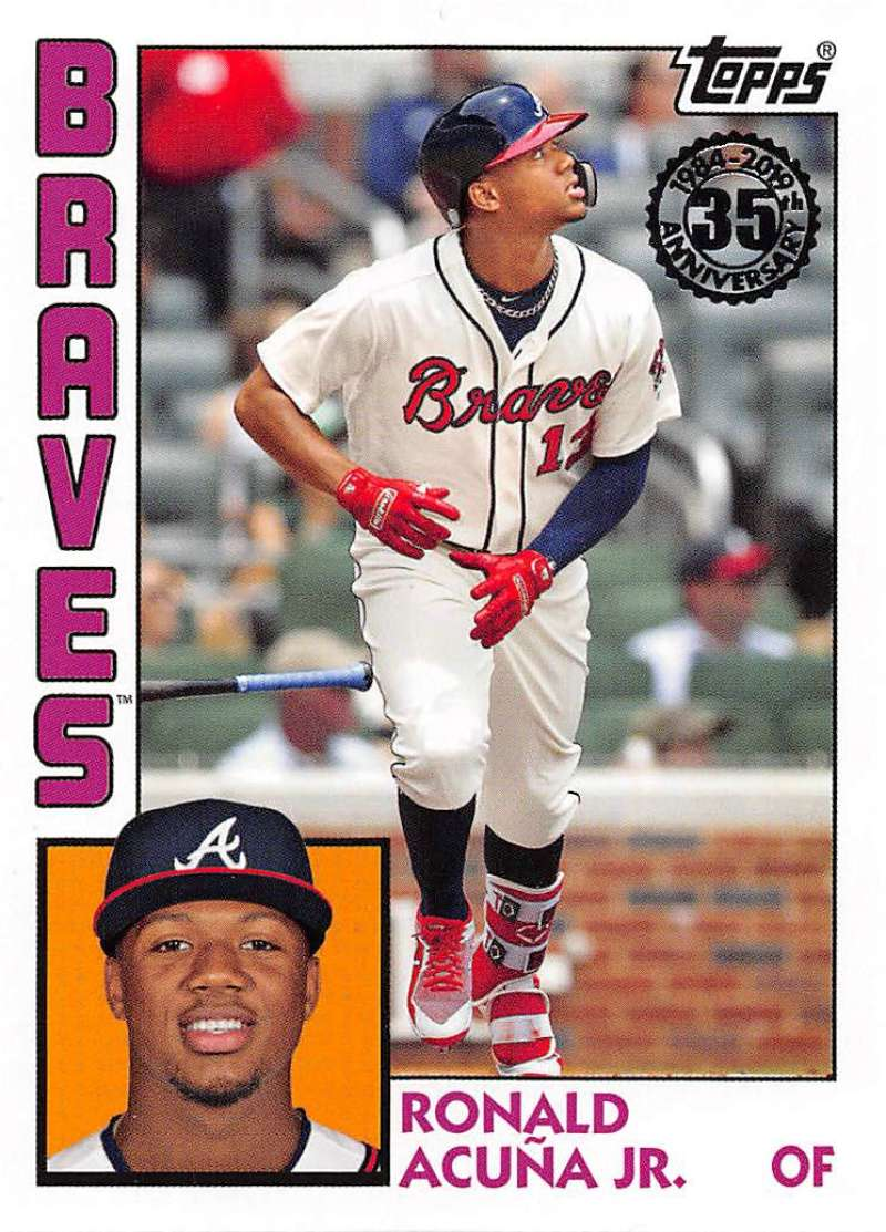 2019 Topps Series 1 Baseball 35th Anniversary 1984 '84 #T84-19 Ronald Acuna Jr. Atlanta Braves