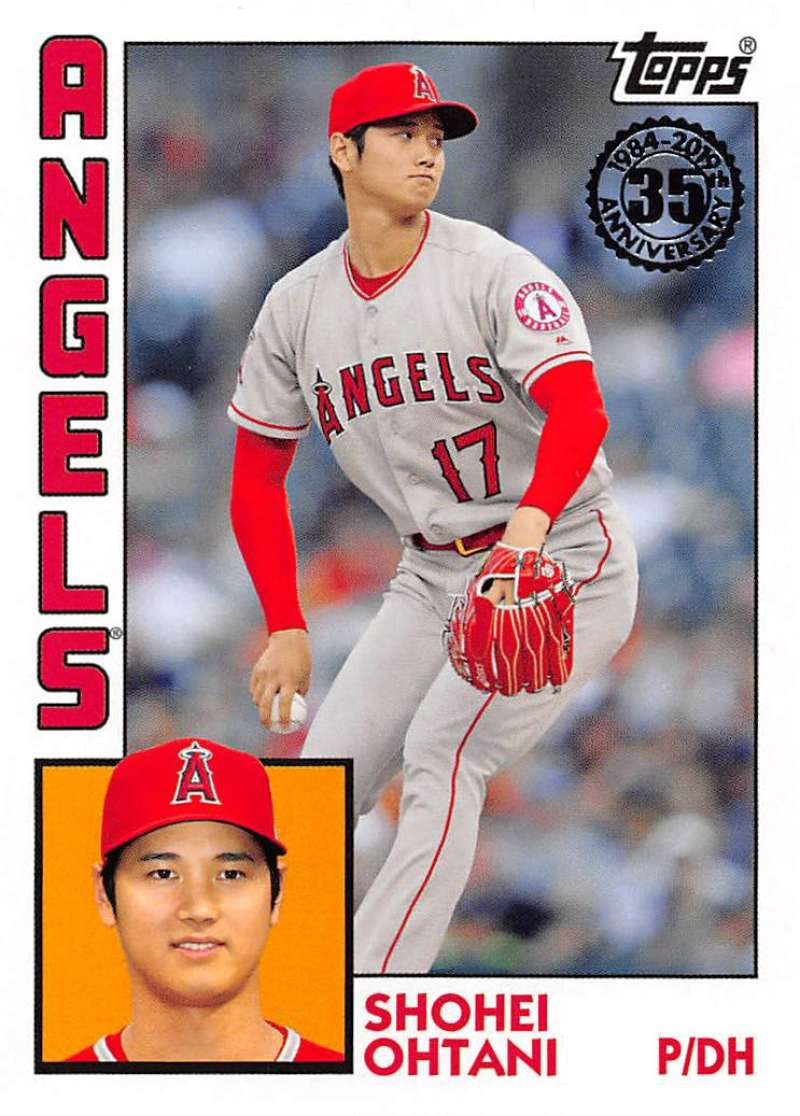 2019 Topps Series 1 Baseball 35th Anniversary 1984 '84 #T84-69 Shohei Ohtani Los Angeles Angels