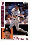 2019 Topps Series 1 Baseball 35th Anniversary 1984 '84 #T84-1 Don Mattingly New York Yankees