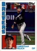 2019 Topps 1984 35th Annversary #T84-64 Christian Yelich Milwaukee Brewers  Official MLB Baseball Trading Card