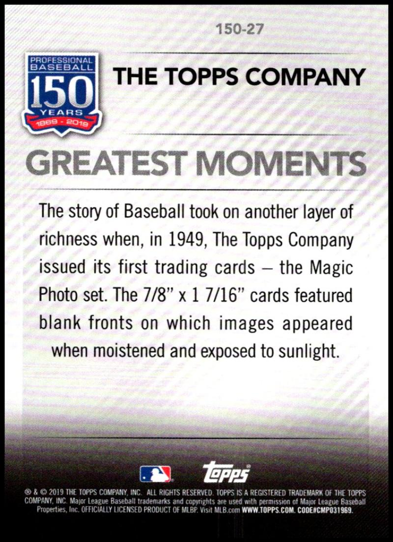 2019-Topps-Series-1-150-Years-of-Professional-Baseball-Singles-Pick-Your-Cards thumbnail 27