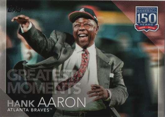 2019 Topps 150 Years of Professional Baseball #150-35 Hank Aaron NM-MT Atlanta Braves
