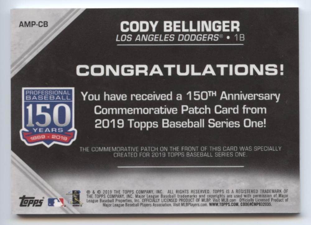 2019-Topps-Series-1-150th-Anniversary-Commemorative-Patch-Pick-Your-Cards-Lot thumbnail 41
