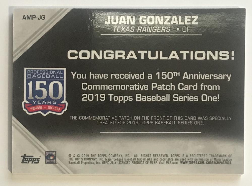 2019-Topps-Series-1-150th-Anniversary-Commemorative-Patch-Pick-Your-Cards-Lot thumbnail 57