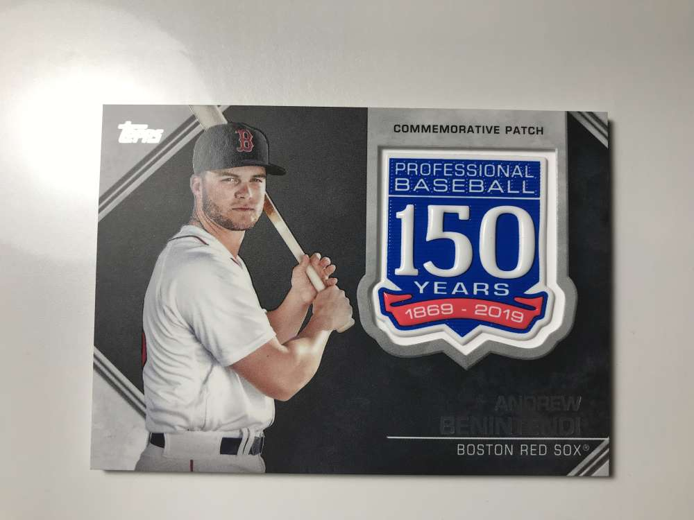 2019 Topps 150th Anniversary Commemorative Patches Baseball