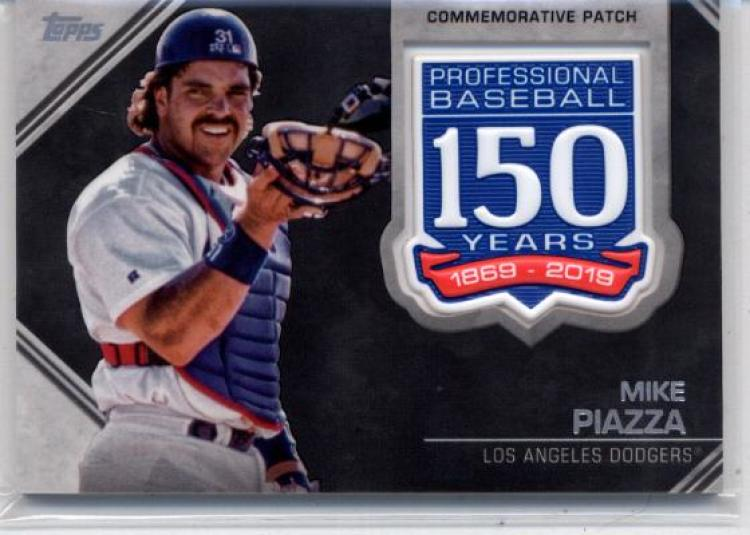 2019 Topps 150th Anniversary Commemorative Patch #AMP-MP Mike Piazza Los Angeles Dodgers
