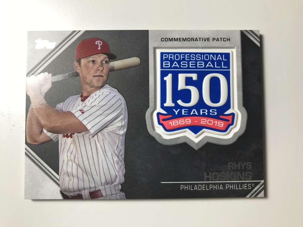 2019 Topps 150th Anniversary Commemorative Patch #AMP-RH Rhys Hoskins Philadelphia Phillies