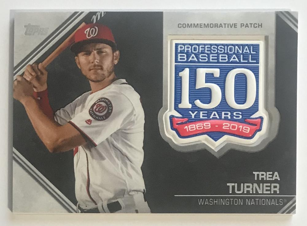 2019 Topps 150th Anniversary Commemorative Patch #AMP-TT Trea Turner Washington Nationals