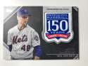 2019 Topps 150th Anniversary Commemorative Patch #AMP-JDE Jacob deGrom New York Mets