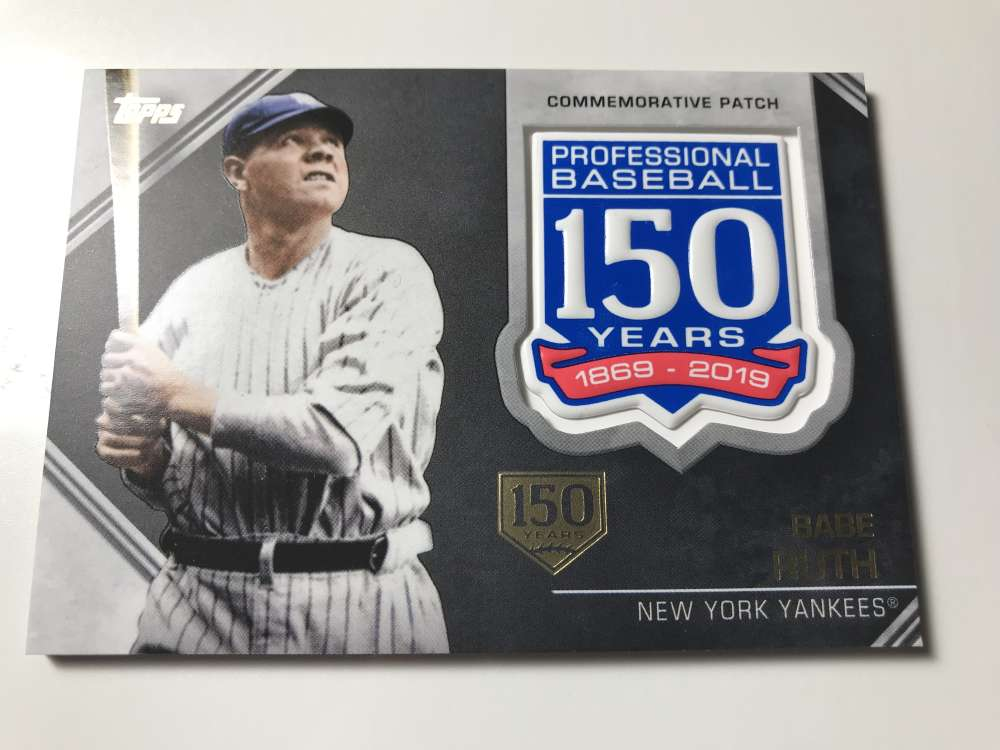2019 Topps  150th Anniversary Commemorative Patches 150th Anniversary
