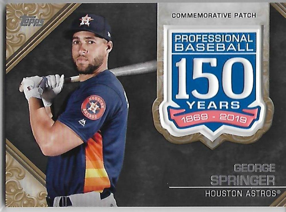 2019 Topps  150th Anniversary Commemorative Patches Gold