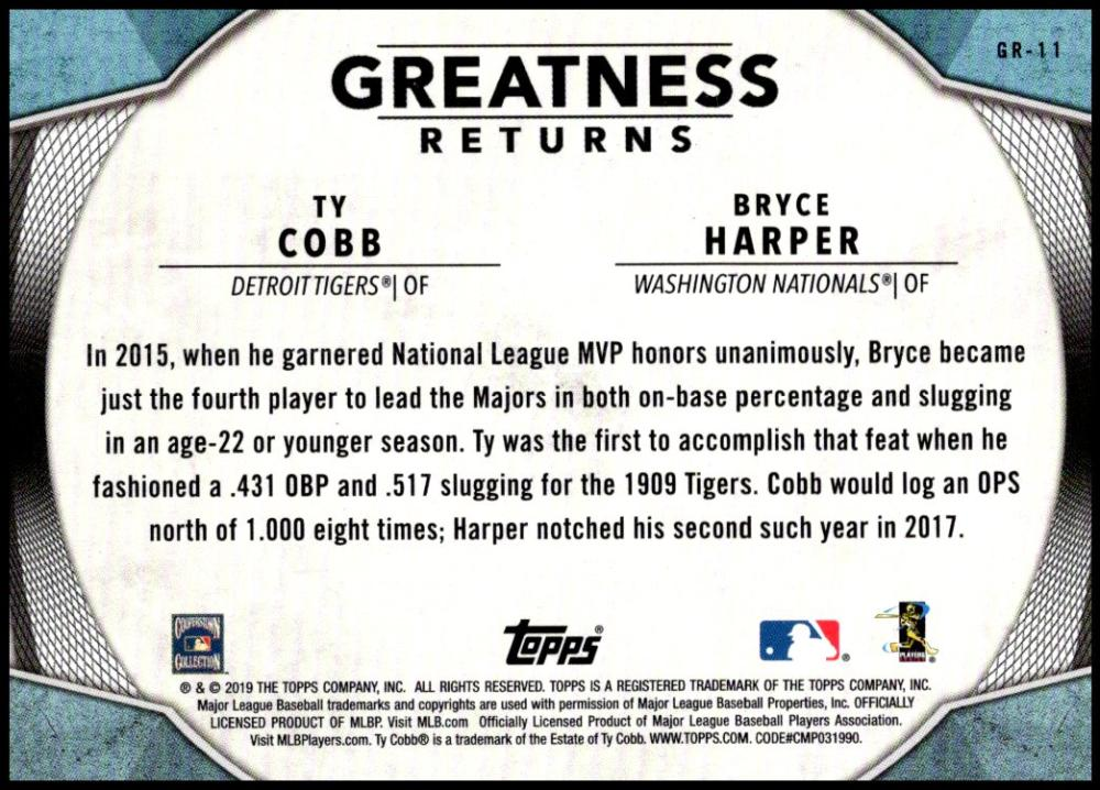 2019-Topps-Greatness-Returns-Insert-Cards-All-Sets-Included-Pick-From-List thumbnail 16