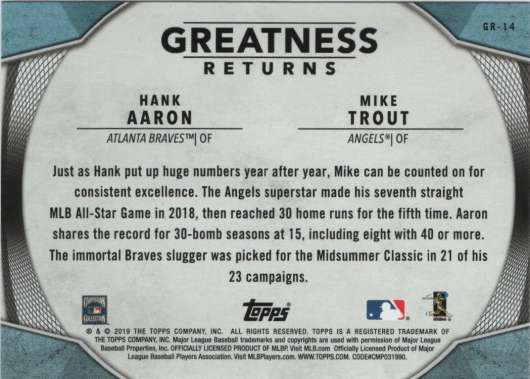 2019-Topps-Greatness-Returns-Insert-Cards-All-Sets-Included-Pick-From-List thumbnail 24