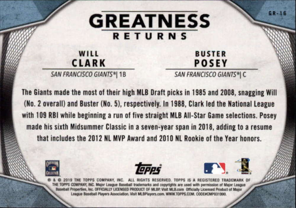 2019-Topps-Greatness-Returns-Insert-Cards-All-Sets-Included-Pick-From-List thumbnail 26