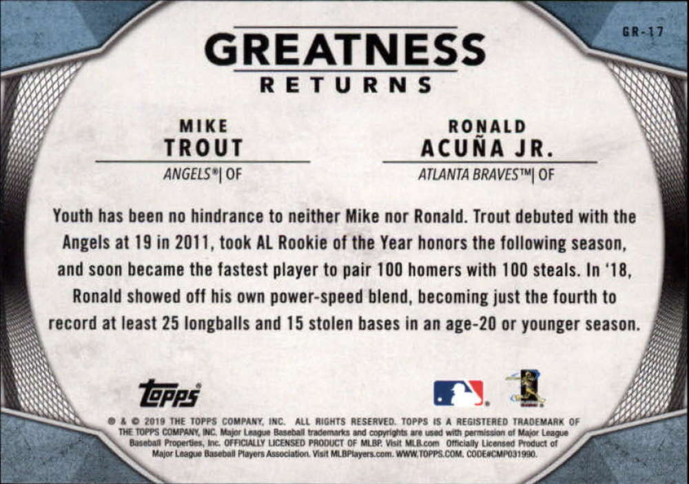 2019-Topps-Greatness-Returns-Insert-Cards-All-Sets-Included-Pick-From-List thumbnail 28