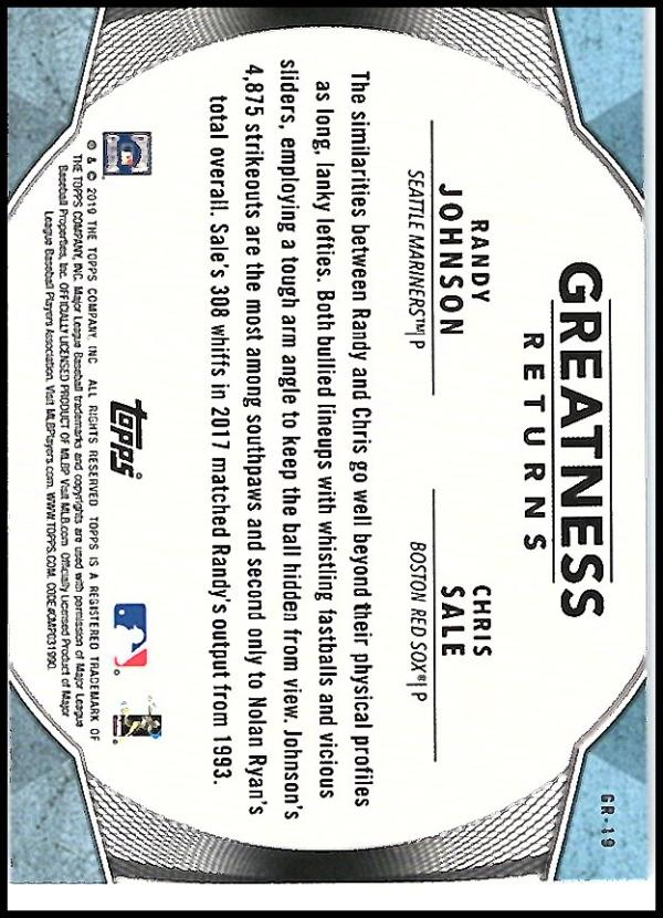 2019-Topps-Greatness-Returns-Insert-Cards-All-Sets-Included-Pick-From-List thumbnail 32