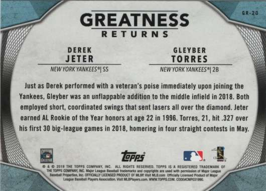 2019-Topps-Greatness-Returns-Insert-Cards-All-Sets-Included-Pick-From-List thumbnail 34