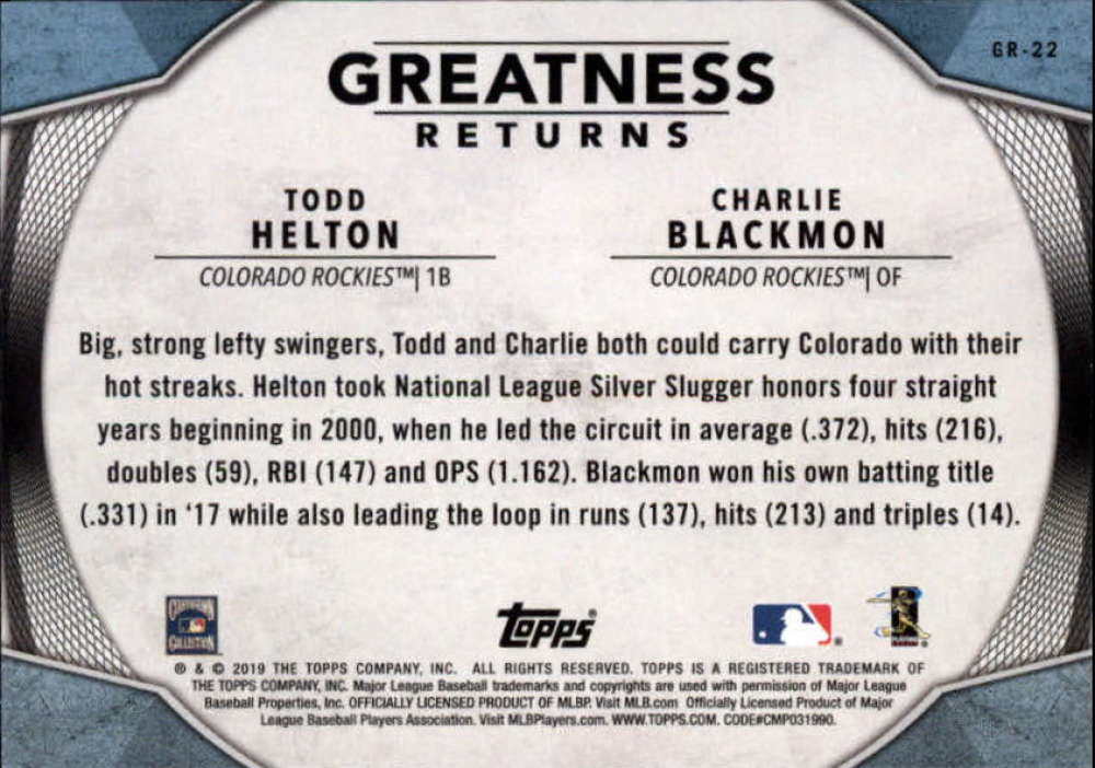 2019-Topps-Greatness-Returns-Insert-Cards-All-Sets-Included-Pick-From-List thumbnail 36