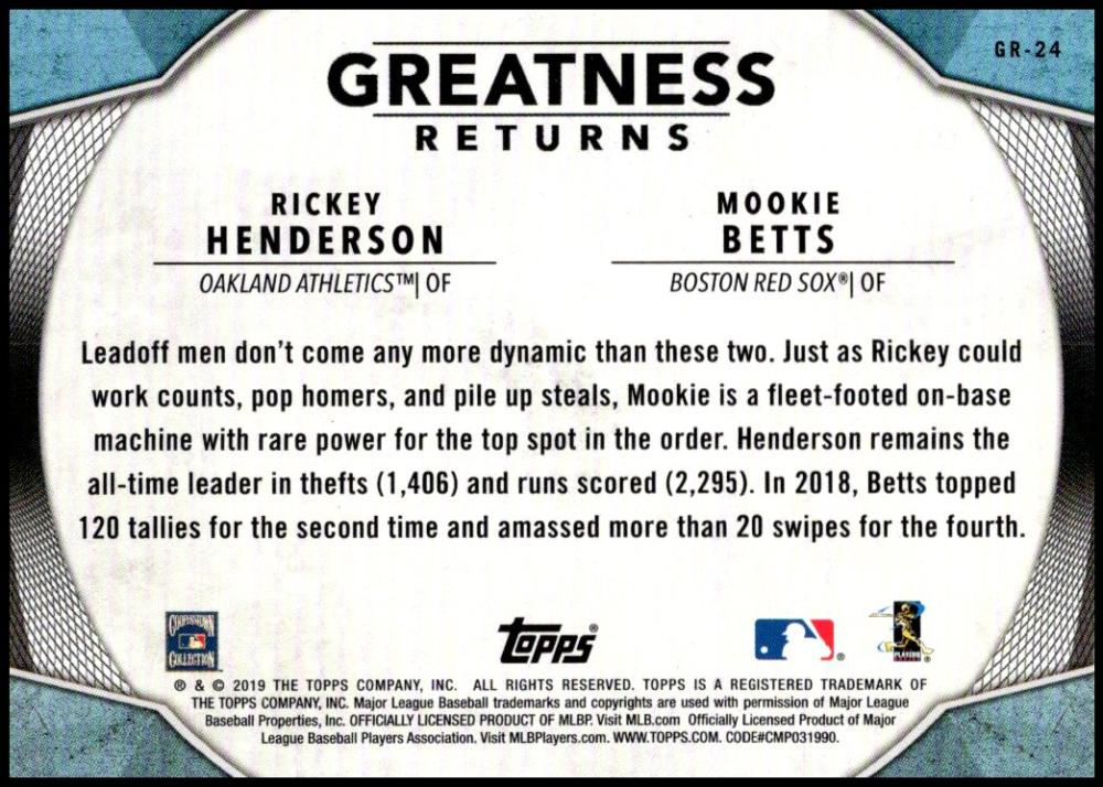 2019-Topps-Greatness-Returns-Insert-Cards-All-Sets-Included-Pick-From-List thumbnail 38