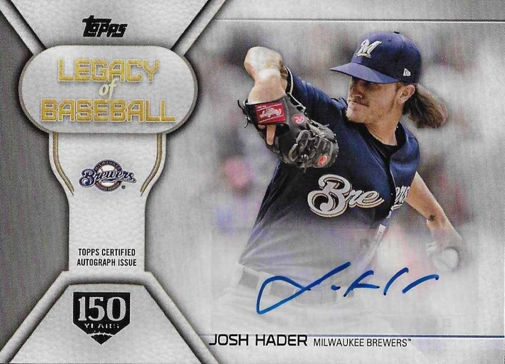 2019 Topps  Legacy of Baseball Autographs 150th Anniversary