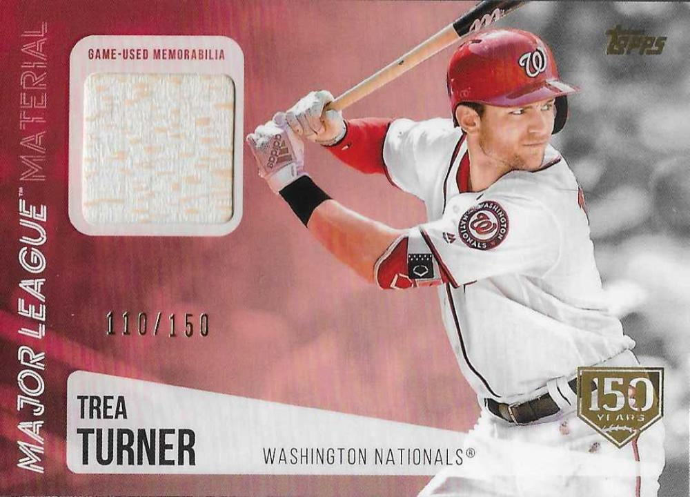 2019 Topps  Major League Material Relics 150th Anniversary