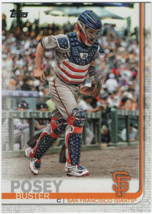 2019 Topps Short Print Variations Baseball #157 Buster Posey SP Short Print San Francisco Giants  Official MLB Trading Card By Topps
