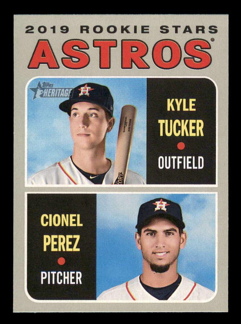 2019 Topps Heritage #227 Kyle Tucker/Cionel Perez NM-MT RC Rookie Houston Astros