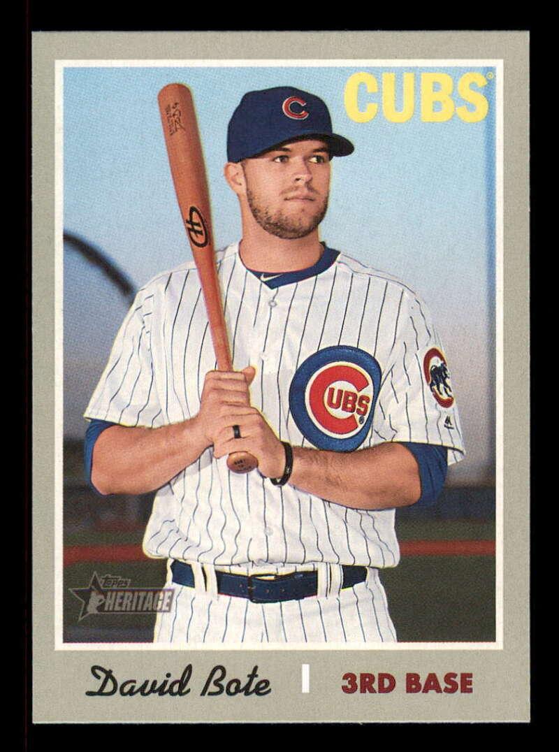 6c0b8367945 2019 Topps Heritage  347 David Bote NM-MT+ Chicago Cubs