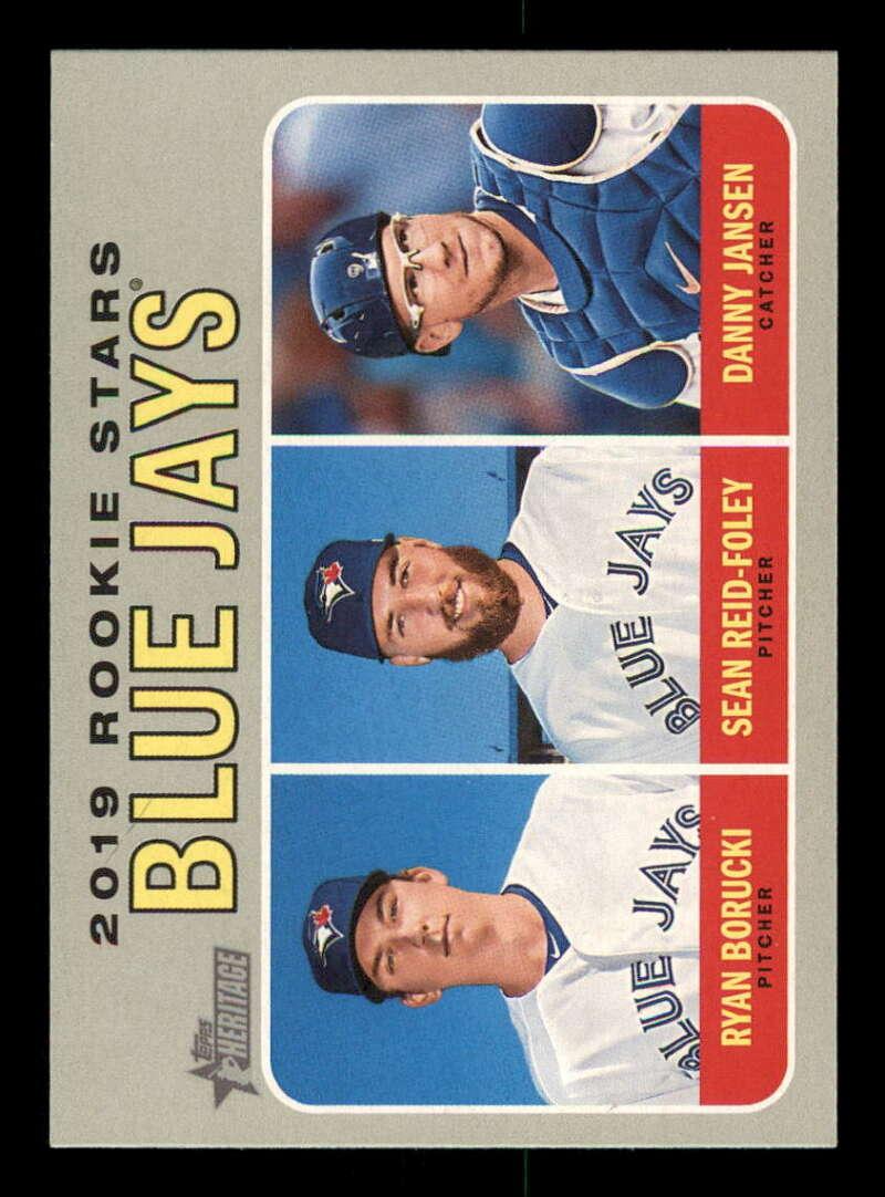 2019 Topps Heritage #376 Ryan Borucki/Danny Jansen/Sean Reid-Foley NM-MT RC Rookie Toronto Blue Jays