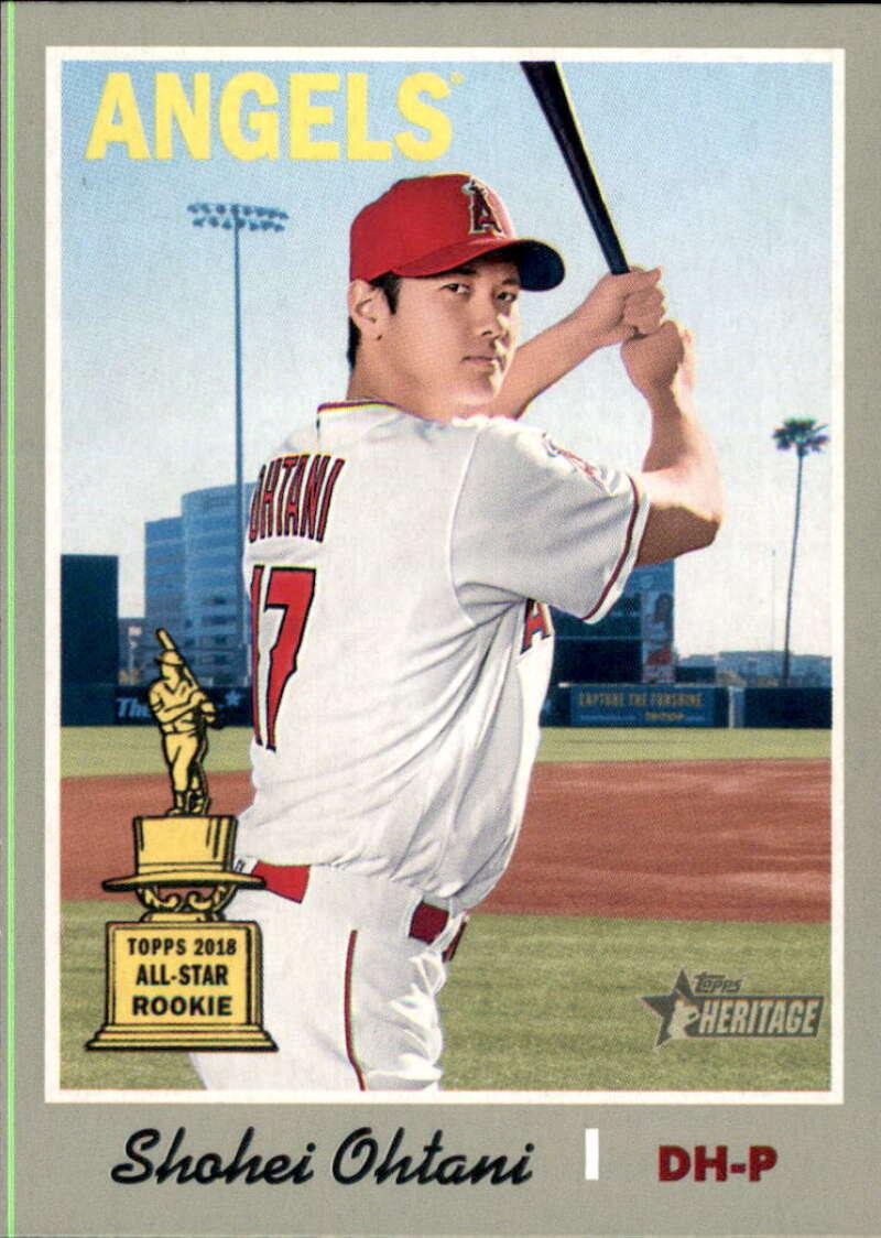 2019 Topps Heritage Baseball #430 Shohei Ohtani SP Los Angeles Angels  Short Print