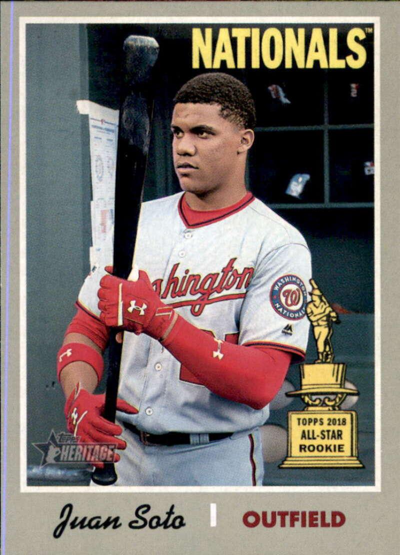 2019 Topps Heritage Baseball #481 Juan Soto SP Washington Nationals  Short Print