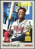 2019 Topps Heritage Baseball #500 Ronald Acuna Jr. SP Atlanta Braves  Short Print