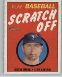 2019 Topps Heritage 1970 Topps Scratch-Off #4 Justin Smoak NM+
