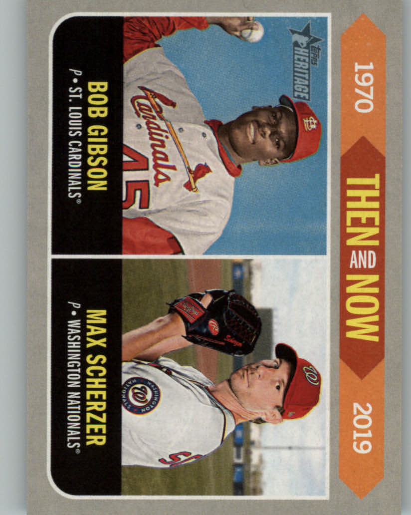 2019 Topps Heritage Then and Now