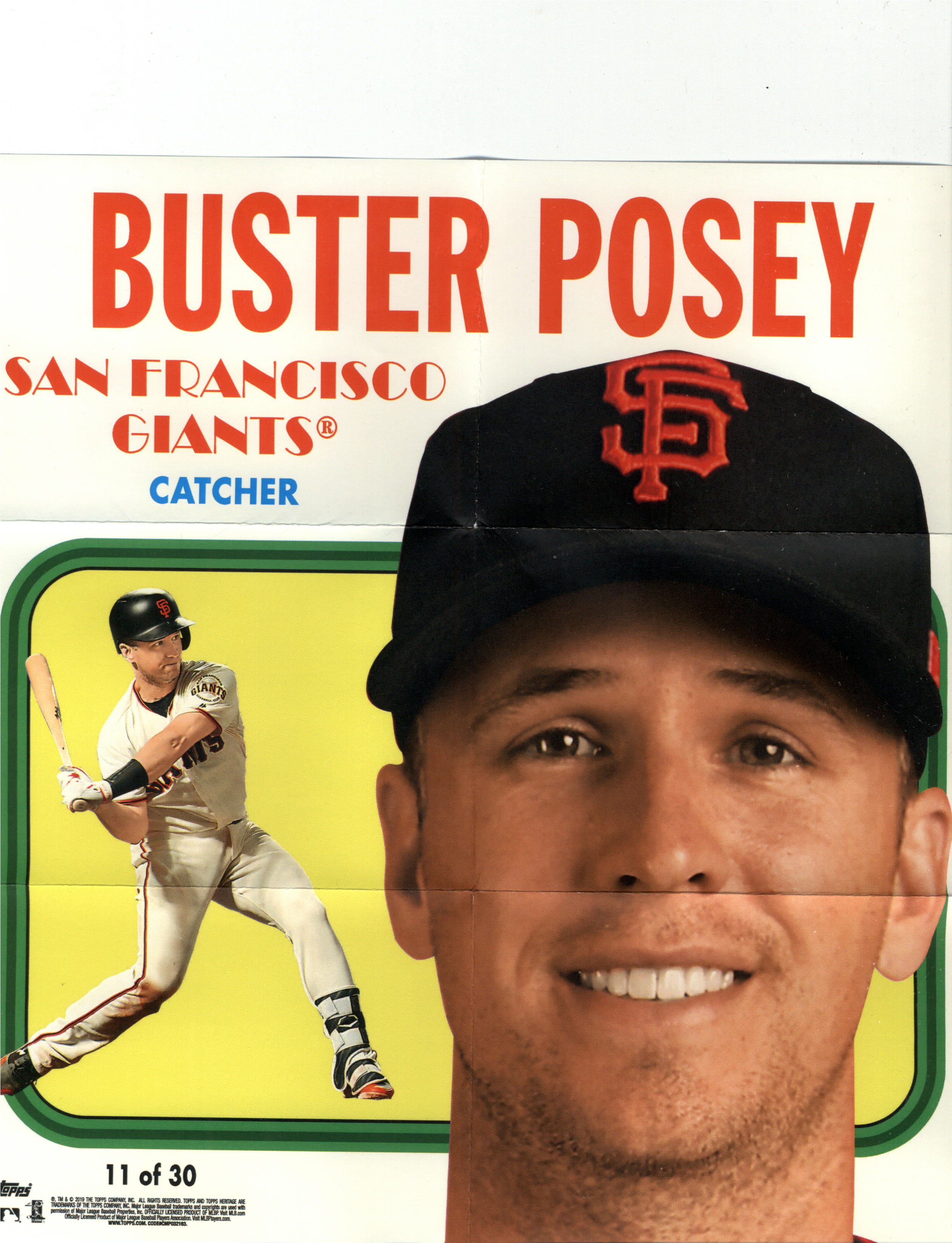 2019 Topps Heritage 1970 Poster Box Toppers