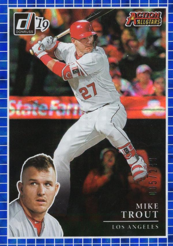 2019 Donruss  Action All-Stars Blue
